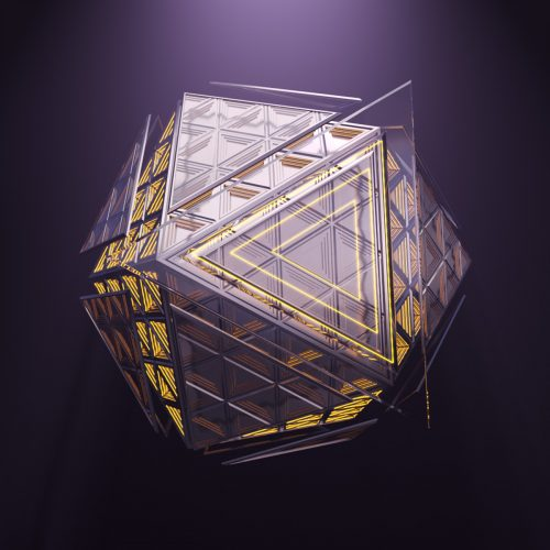 Abstract platonic 3d rendering
